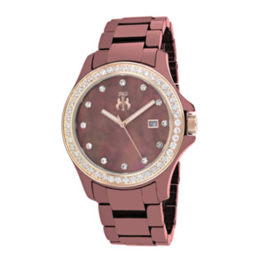 jcpenney.com | Jivago Womens White Dial Red Ceramic Bracelet Watch