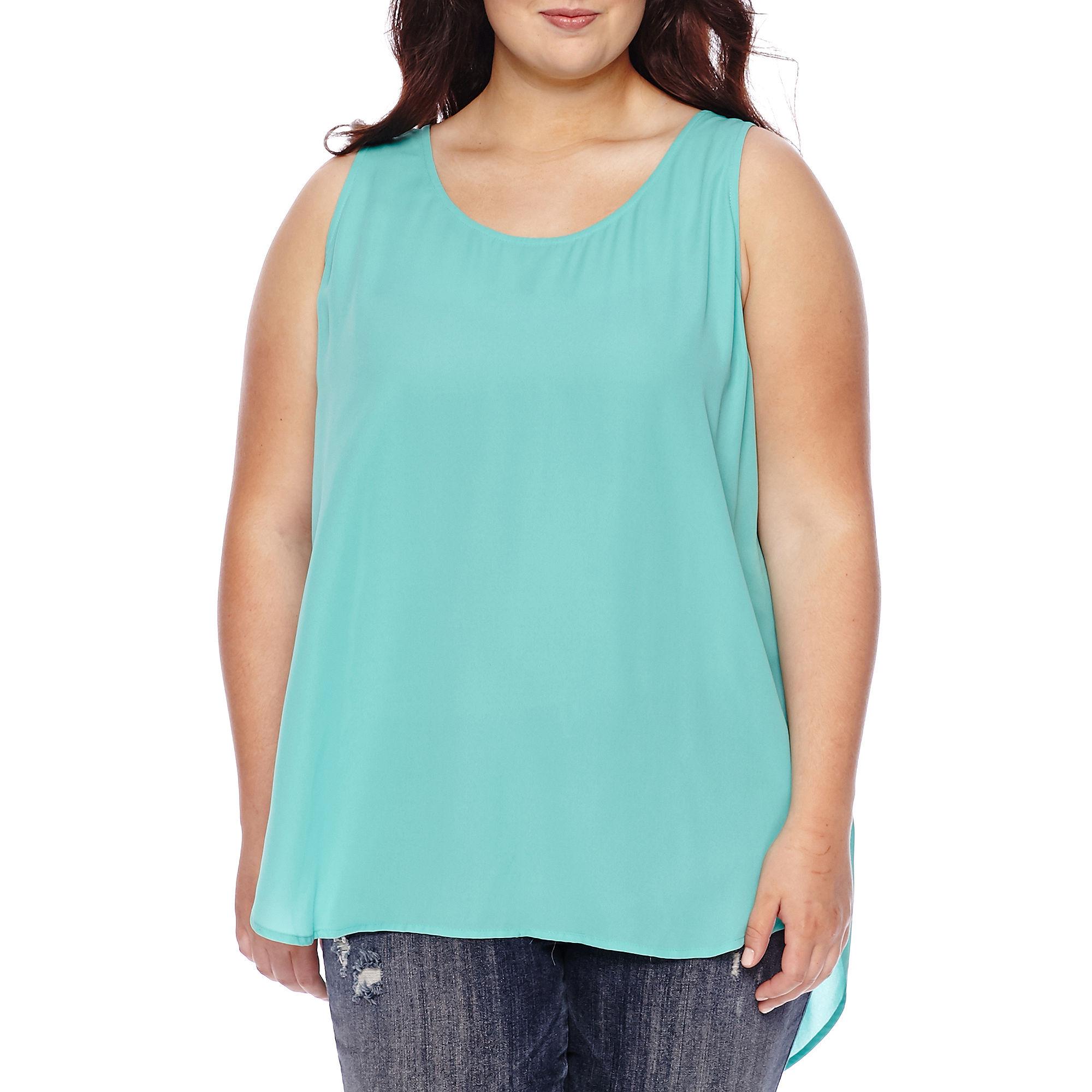 Decree Drape-Back Print Tank Top - Juniors Plus plus size,  plus size fashion plus size appare