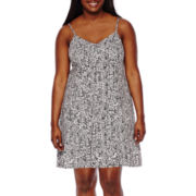 Decree® Tie Back Strappy Dress - Juniors Plus