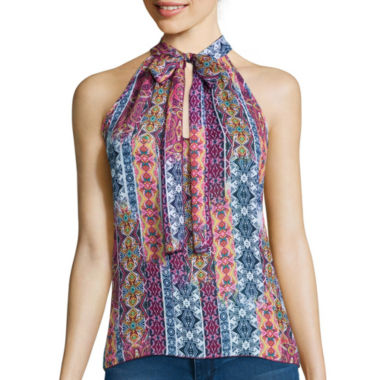 jcpenney.com | Decree® Sleeveless Bow Blouse