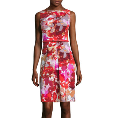 jcpenney.com | London Style Collection Sleeveless Floral Print Fit-and-Flare Dress