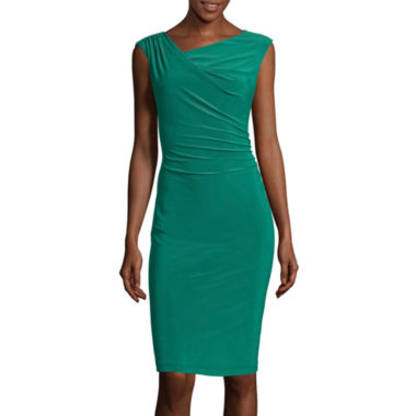 jcpenney.com | Scarlett Sleeveless Ruched-Side Sheath Dress with Shoulder Bling