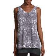 Worthington® Sleeveless Side Slit Tunic - Tall
