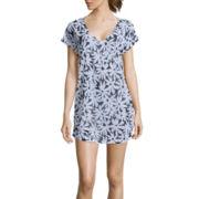 Liz Claiborne® Daisy Print Tunic Swim Coverup