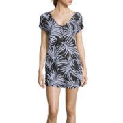 Liz Claiborne® Leaf Print Tunic Swim Coverup