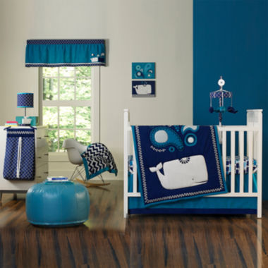 jcpenney.com | Happy Chic by Jonathan Adler 4-pc. Party Whale Crib Bedding Set