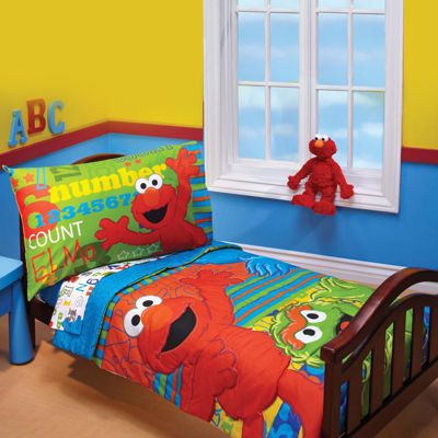 Sesame Street Abc 123 4 Pc Toddler Bedding Set Jcpenney