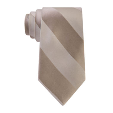 jcpenney.com | Stafford® Tonal Stripe Satin Tie - Extra Long