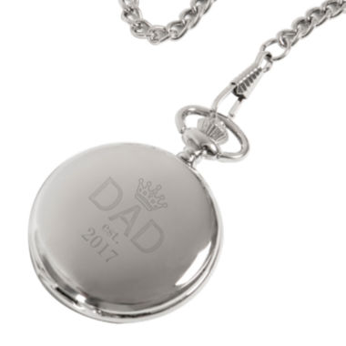jcpenney.com | Personalized Father's Day Silver-Plated Pocket Watch