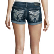 Soundgirl Embellished Roll-Cuff Shorts