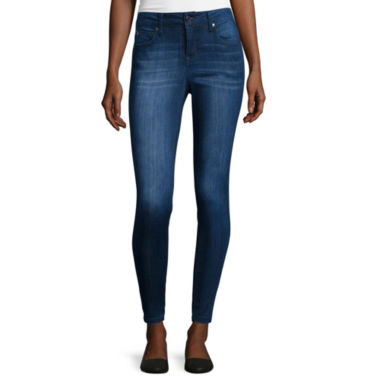 jcpenney.com | C-Pink Low Rise Skinny Ankle Pants