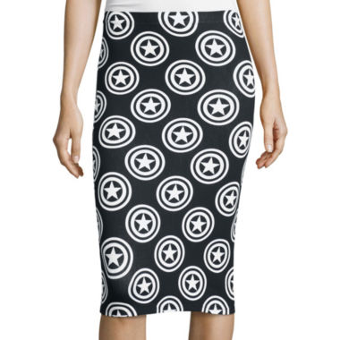 jcpenney.com | Captain America Shield Print Bodycon Pencil Skirt