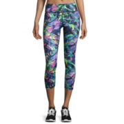 Tropical Print Performance Crop Pants