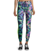 Tropical Print Performance Jogger Pants