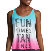 Arizona Braided Screen Tank Top - Juniors
