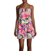 Arizona Tropical Short Halter Dress- Juniors