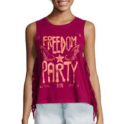 Arizona Americana Fringe Tank Top - Juniors
