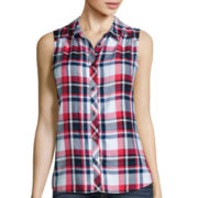 Arizona Sleeveless Americana Plaid Shirt