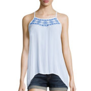 Arizona Americana Handkerchief Hem Tank Top