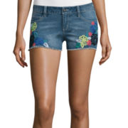 Arizona Multicolor Embroidery Floral Shorts