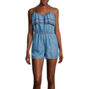 Arizona Ruffle Chambray Romper