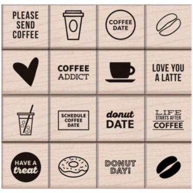 jcpenney.com | Coffee & Donuts 16-pc. Stamp Set