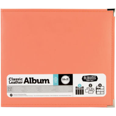 jcpenney.com | 3-Ring Leather Album - Coral