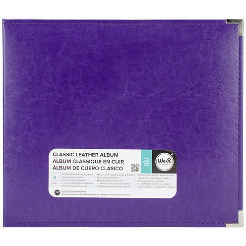 3-Ring Leather Album - Grape Soda