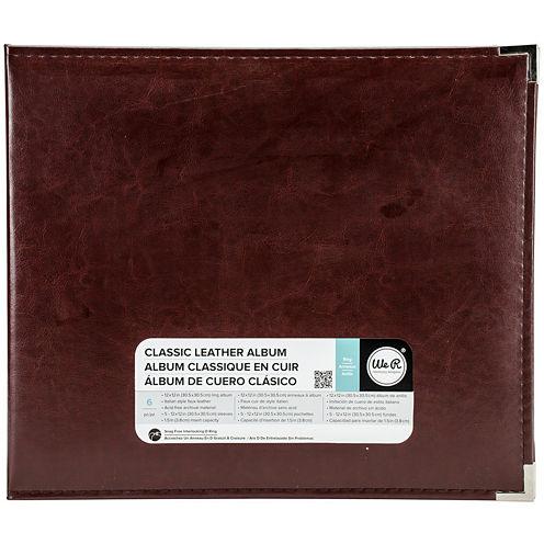 3-Ring Leather Album - Cinnamon