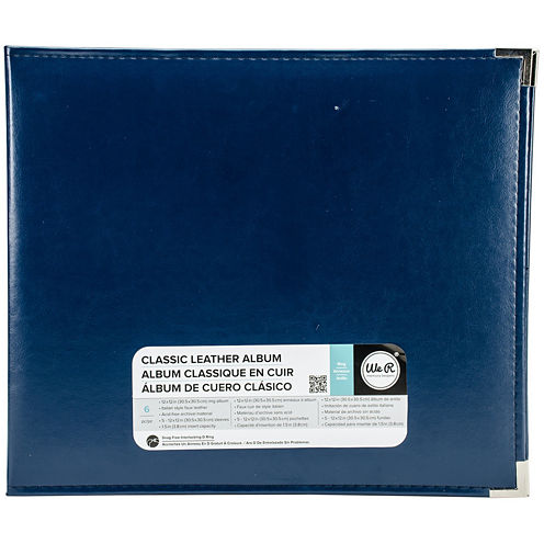 3-Ring Leather Album - Cobalt