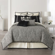 Liz Claiborne® Danika 4-pc. Jacquard Comforter Set & Accessories