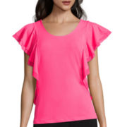 Worthington® Sleeveless Flutter Top