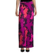 Worthington® Side Pleat Knit Maxi Skirt - Petite