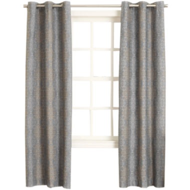 jcpenney.com | Sun Zero™ Alessia Thermal Lined Grommet-Top Curtain Panel