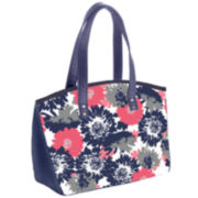 Fit & Fresh® Westlake Navy & Coral Shadow Flowers Lunch Kit
