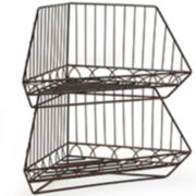 Gourmet Basics By Mikasa® French Countryside Stacking And Nesting Corner Baskets