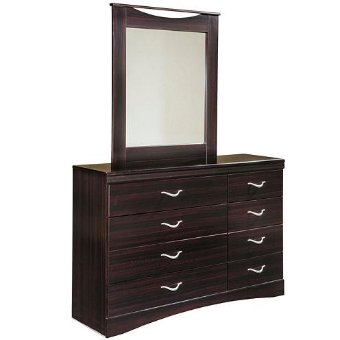 Signature Design by Ashley® Zanbury Dresser & Mirror Set