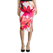 Worthington® Side-Zip Scuba Pencil Skirt - Tall