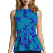 Worthington® Sleeveless Dramatic Peplum Top