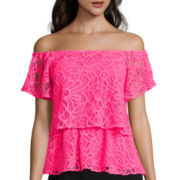 Worthington® Lace Off-The-Shoulder Top