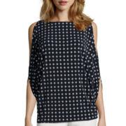Worthington® Cold Shoulder 3/4 Sleeve Top