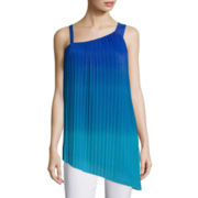 Worthington® Sleeveless Pleated One-Shoulder Top