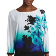 Worthington® Short-Sleeve Print Blouse