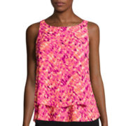 Worthington® Sleeveless Double-Layer Blouse