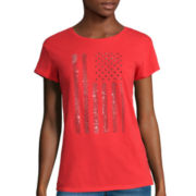 i jeans by Buffalo Short-Sleeve Flag Screen Tee