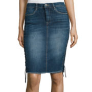 i jeans by Buffalo Lace-Up Denim Skirt