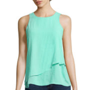 a.n.a® Flowy Zipper-Back Tank Top - Tall