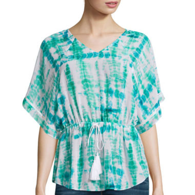 jcpenney.com | a.n.a® Cinched-Waist Blouse