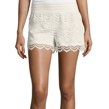 jcpenney.com | a.n.a® Crochet Shorts - Tall