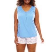 Earth Angels® Tee and Boxer Shorts Pajama Set - Plus